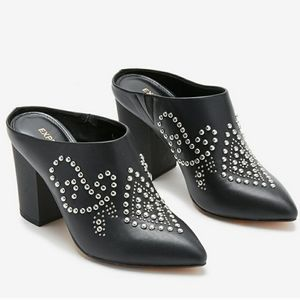Express Black Studded Mule Bootie